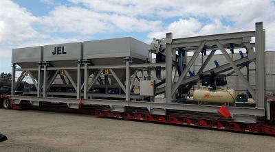 Small Mini Stationary Concrete Batching Plant on Wheels