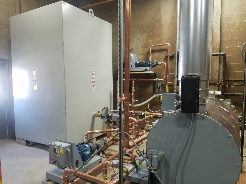 Concrete plant water heater system